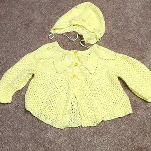 Handmade soft knit set